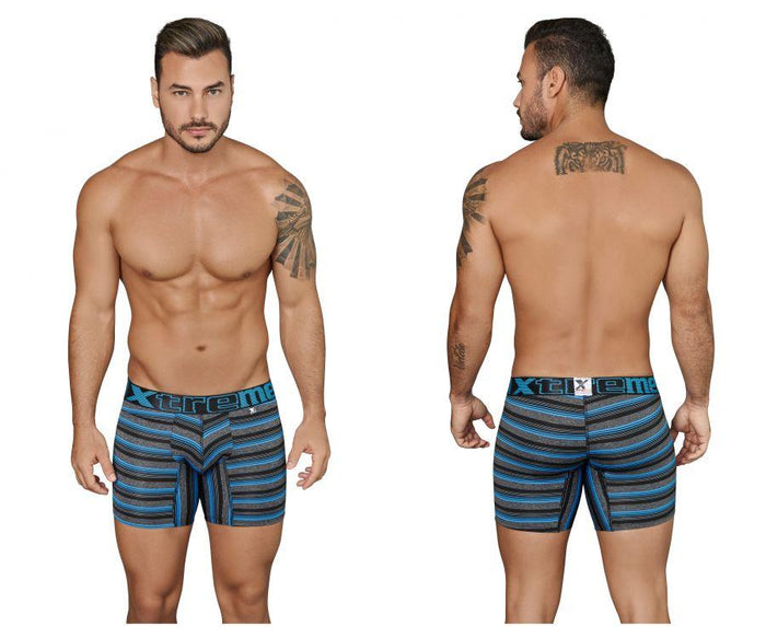 Xtremen 51415 Boxer Briefs Microfiber Stripes