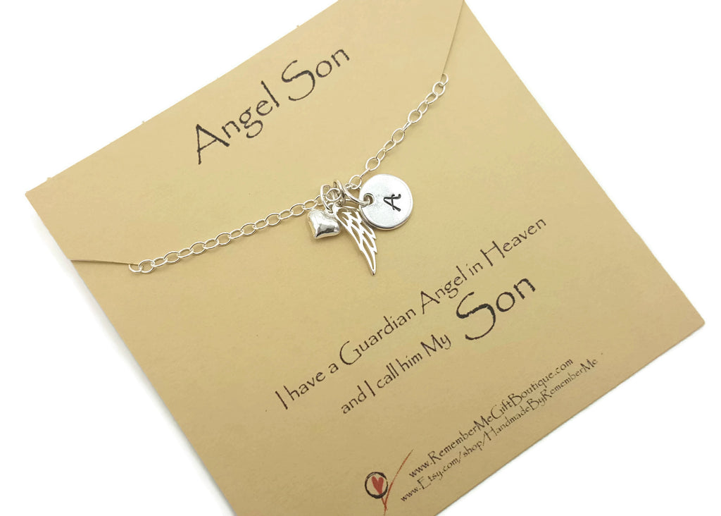 Loss of Son Remembrance Necklace in Sterling Silver - Remember Me Gifts - Remember Me