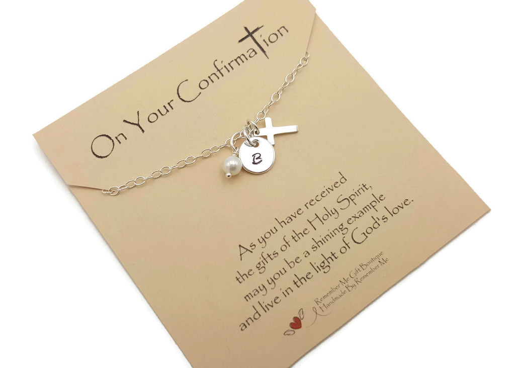 Sterling Silver Confirmation Necklace - Personalized Confirmation Gift Ideas from Sponsor - Remember Me