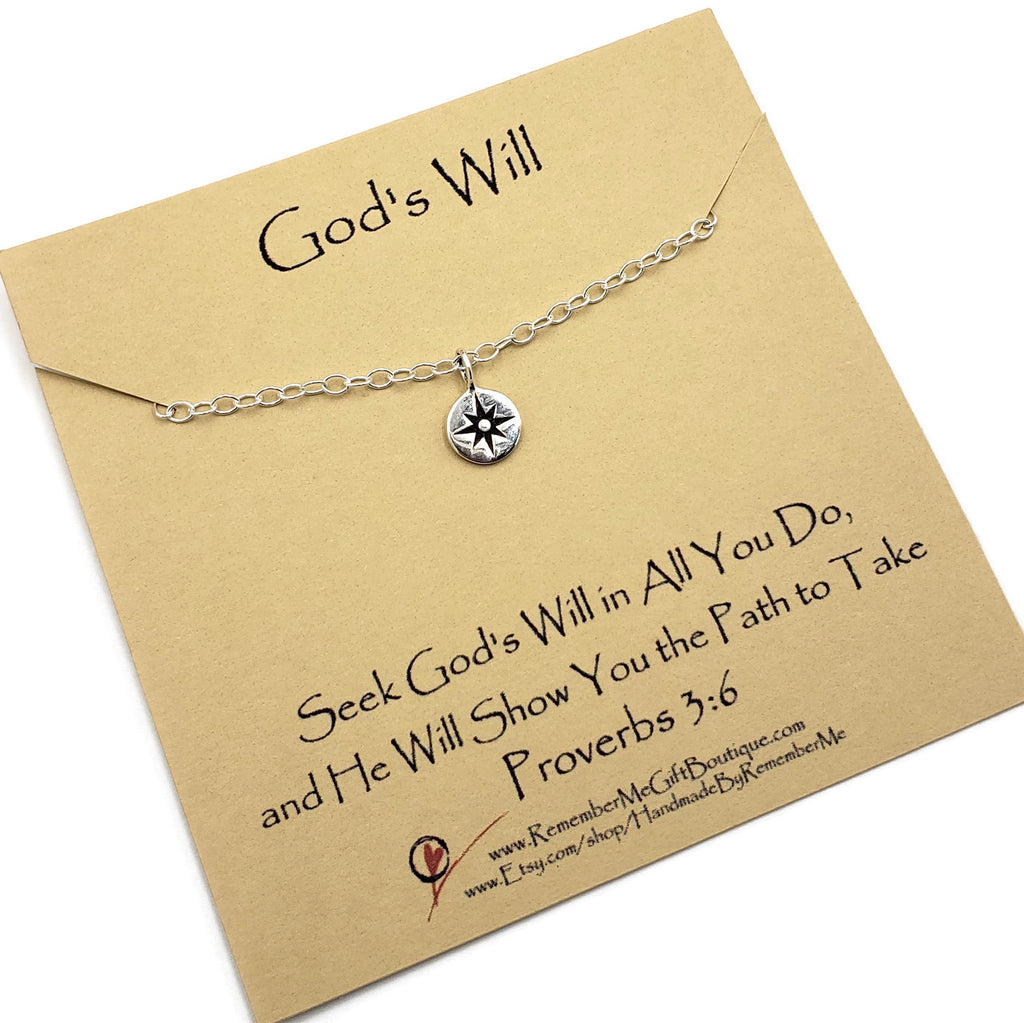 Compass Necklace Proverbs - Christian Necklaces for Women - Remember Me