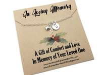 Christmas Remembrance Necklace - Personalized Memorial Gifts - Remember Me