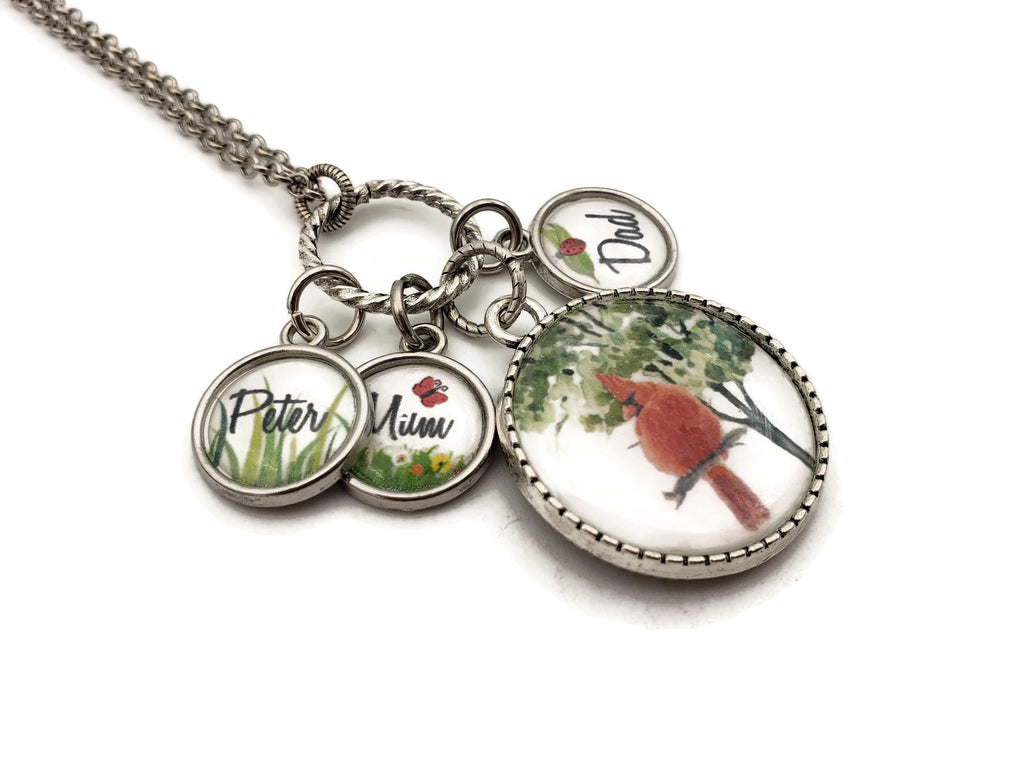 Cardinal Necklace - Personalized Memorial Jewelry - Remember Me Gifts - Remember Me