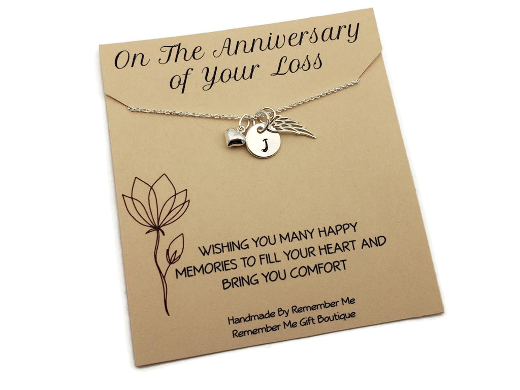 Anniversary of Loss of a Loved One Remembrance Necklace - Remember Me