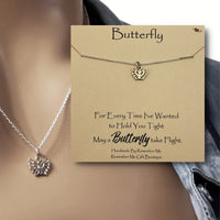 Butterfly Takes Flight Remembrance Necklace - Remember Me Gifts - Remember Me
