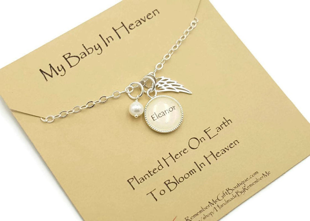 Infant Loss Jewelry - Angel Wing Necklace - Remember Me Gifts - Remember Me
