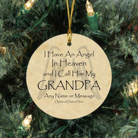 Memorial Christmas Ornaments for Loss of Grandpa - Angel Memorial Ornaments - Remember Me