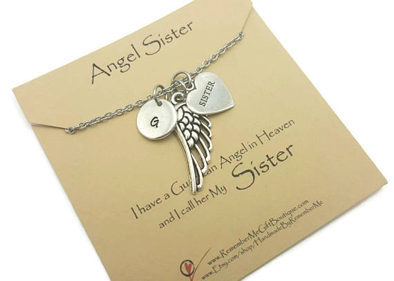 Memorial Necklace - Loss of Sister - Sterling Silver Remembrance Gift - Remember Me
