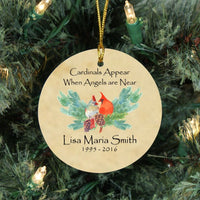 Personalized Memorial Ornament - Cardinal Memorial Gifts - Remember Me Gifts - Remember Me