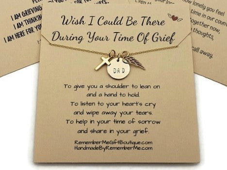 Memorial Jewelry for Loss of Father - Remembrance Gifts Loss of Dad - Remember Me