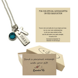 Graduation Necklace Goddaughter - Graduation Gift Idea for Her from Godparent