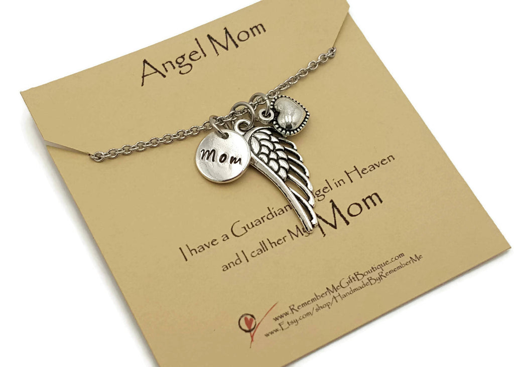 Loss of Mom, Memorial Jewelry for Loss of Mom, Remember Me Gifts - Remember Me