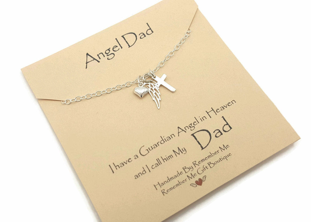 Loss of a Father - In Memory of Dad Jewelry - Remember Me Gifts - Remember Me