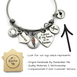 Memorial Gifts for Loss of Brother - Personalized Memorial Bracelet - Remember Me