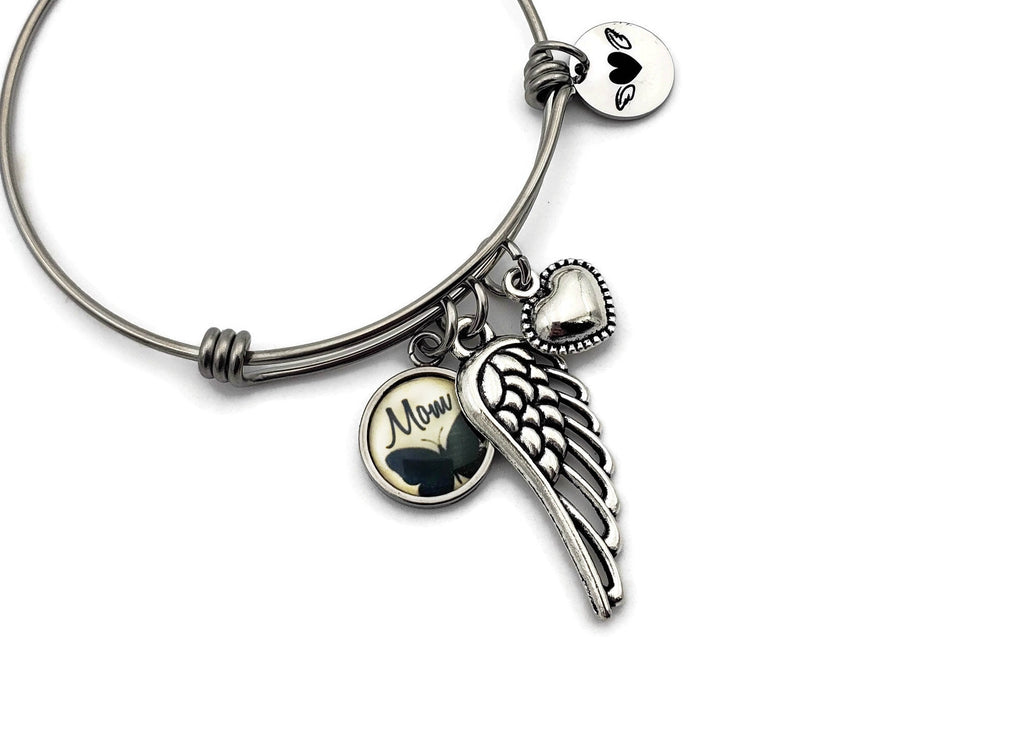 Loss of Mom, Angel Wing Bracelet, Loss of Mother Jewelry - Remember Me