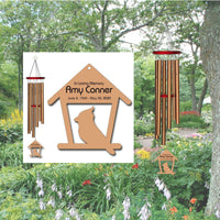Personalized Memorial Wind Chimes - Cardinal Wind Chimes - Feeder
