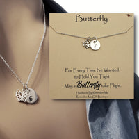 Butterfly Remembrance Necklace, Personalized Remembrance Jewelry, Remember Me Gifts - Remember Me