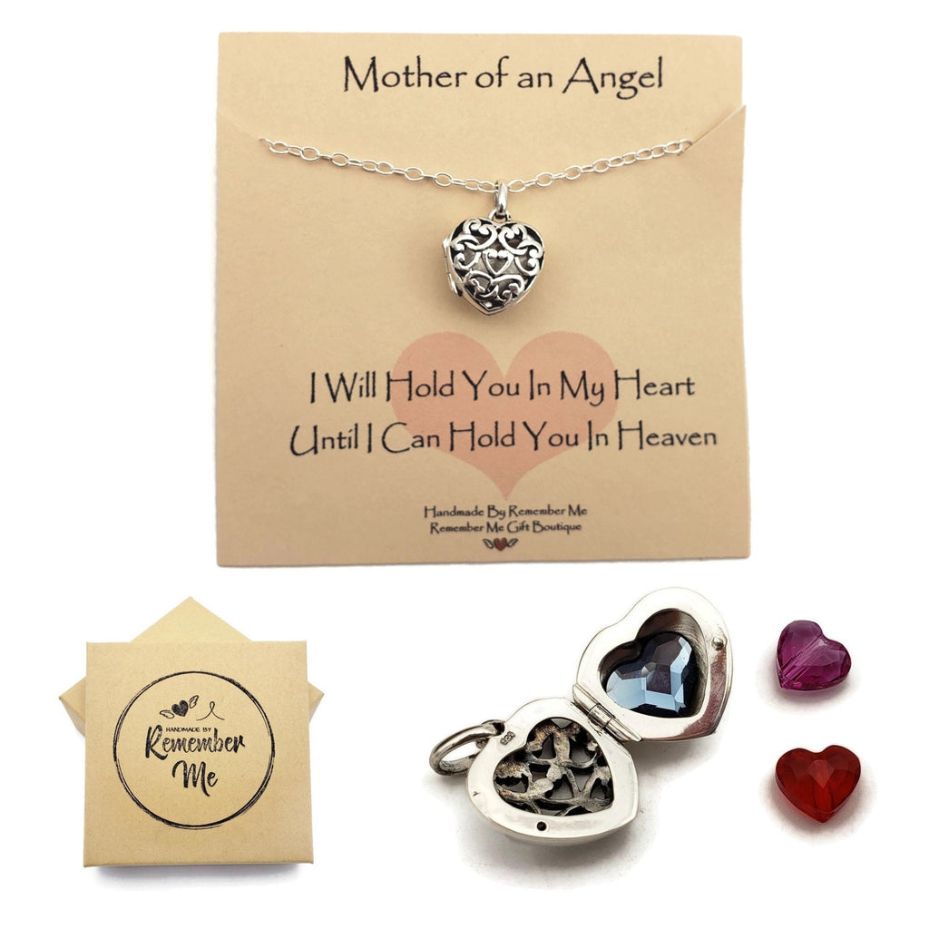 Mother to An Angel Necklace - Infant Loss Gifts - Heart with Charms