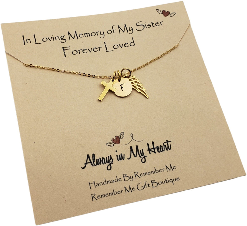 Sister Remembrance Necklace - Memorial Gifts for Loss of Sister