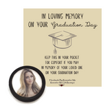 Memorial Graduation Gifts Ideas - Custom Pocket Token In Remembrance