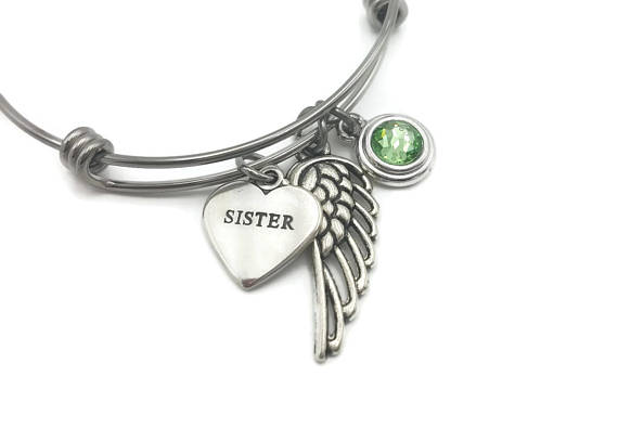 Memorial Jewelry - Remembrance Bracelet - Loss of Sister Remembrance Gift - Remember Me