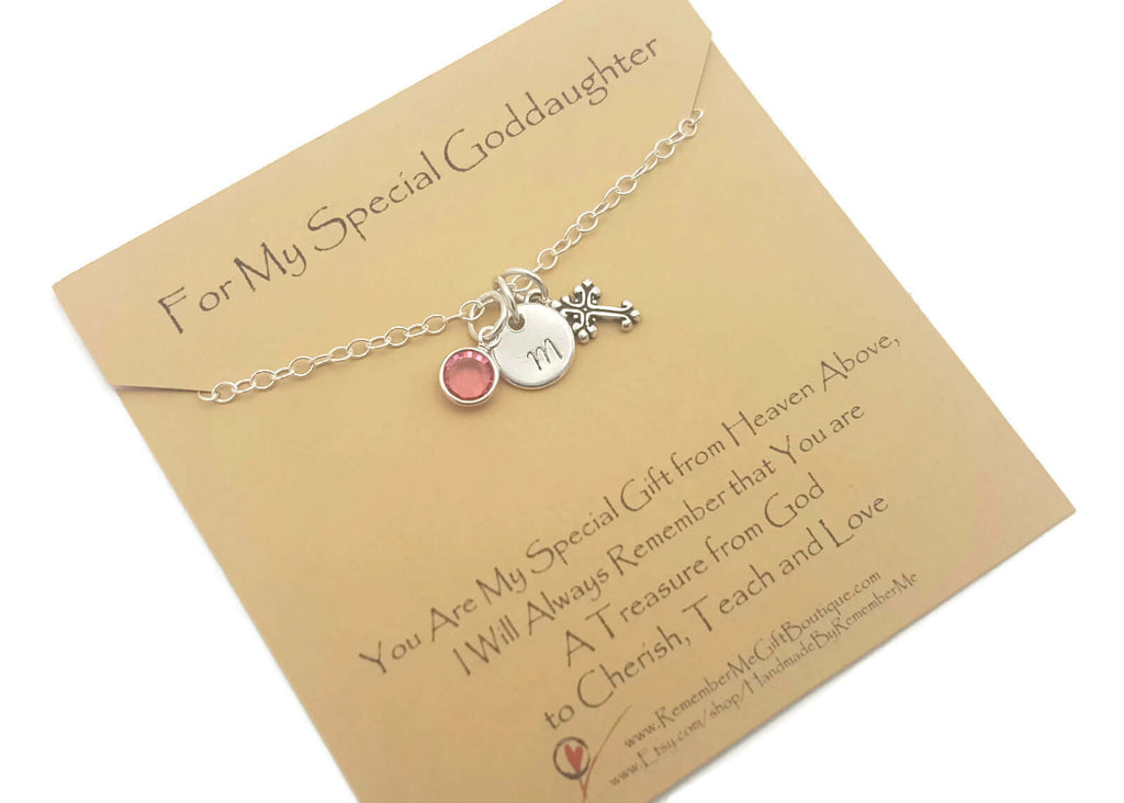 First Communion Gifts from Godmother - First Communion Necklace Goddaughter - Remember Me