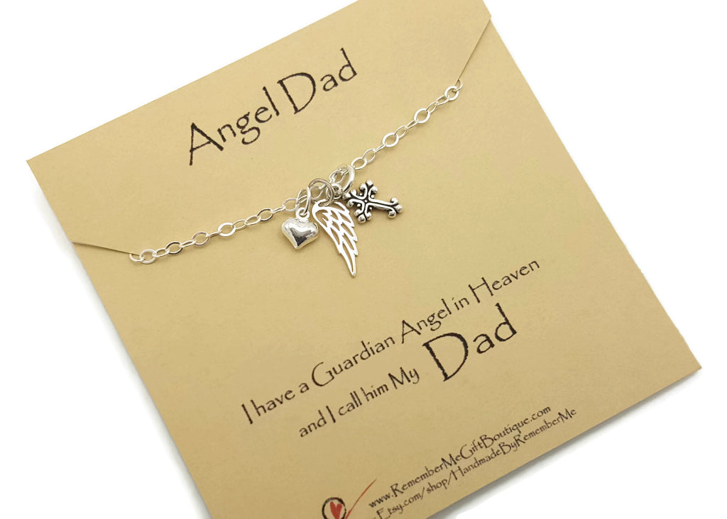 Loss of Father Remembrance Necklace, Remember Me Gifts - Remember Me