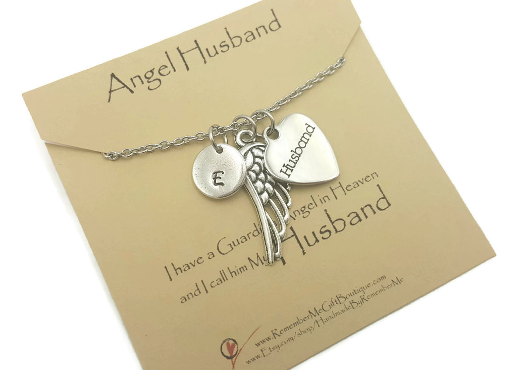 Loss of Husband Remembrance Necklace - Remember Me Gifts - Free Shipping - Remember Me