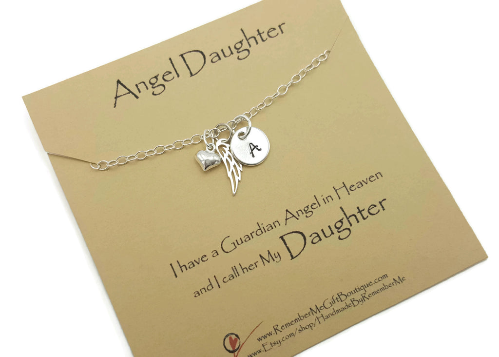 Loss of Daughter Remembrance Necklace in Sterling Silver - Remember Me Gifts - Remember Me