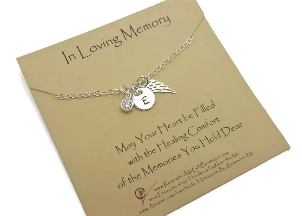 In Loving Memory Sterling Silver Memorial Necklace - Remember Me Jewelry - Remember Me