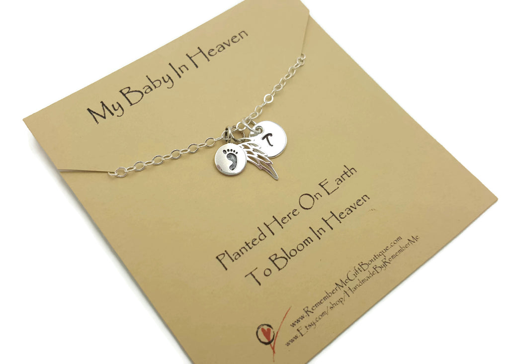 Memorial Jewelry Child Loss - Loss of Baby - Child Memorial Personalized Sterling Silver - Remember Me