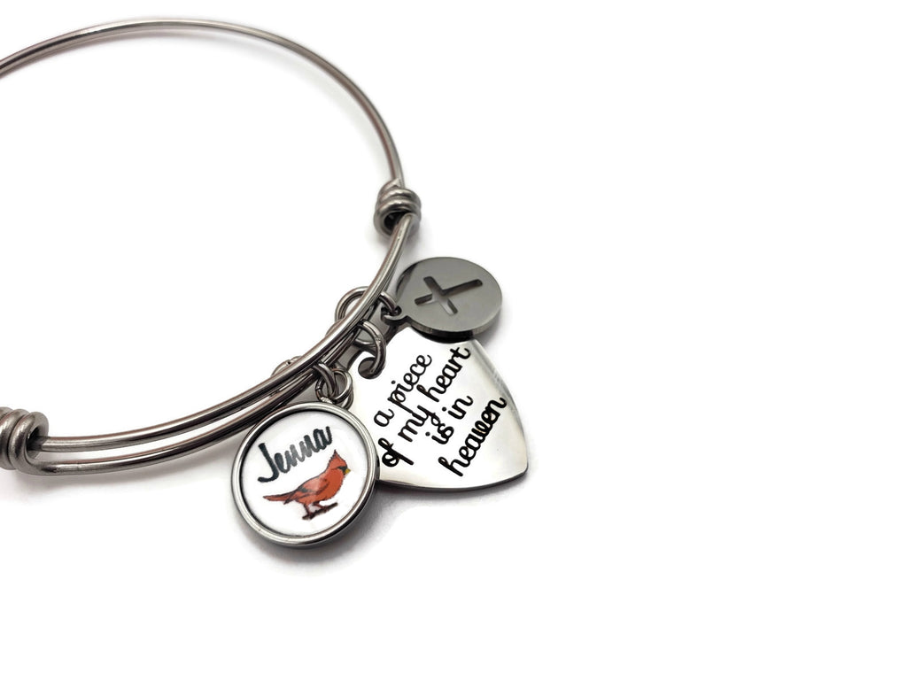 Cardinal Memorial, Personalized Memorial Bracelet - Remember Me Gifts - Remember Me