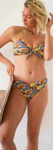 ARIEL Two Piece Bikini - YELLOW BIRD