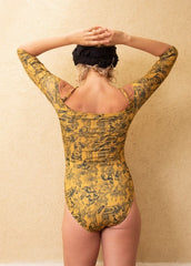 SANDY One Piece - YELLOW CRYPTOGRAPHIC
