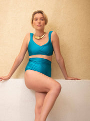 NATALY TOP - TURQUOISE