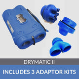 Drymatic II MKII includes Y-Piece Kit, Injection + Kitchen Kit and Exhaust Adaptor Kits