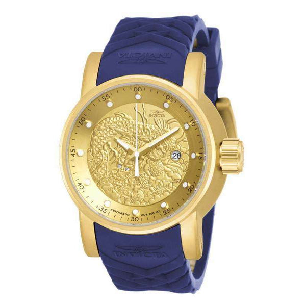 Invicta Men's 18215 S1 Rally Automatic Chronograph Gold Dial Watch - NicholsonWatchCo