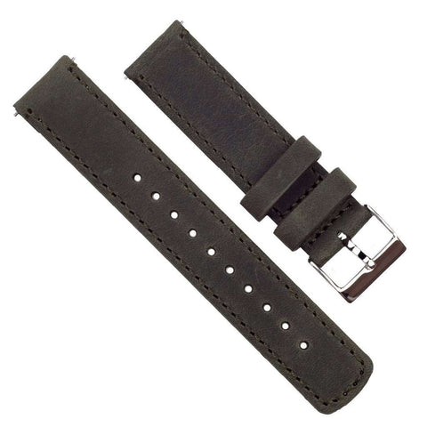 Barton Watch Bands | Espresso Leather | Espresso Stitching - NicholsonWatchCo