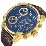 JBW Men's J6248LO G4 0.16 ctw 18k gold-plated stainless-steel Diamond Watch
