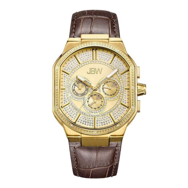 JBW Men's J6342B Orion 0.12 ctw 18k gold-plated stainless-steel Diamond Watch