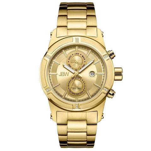 JBW Men's J6263E Strider 0.12 ctw 18k gold-plated stainless-steel Diamond Watch