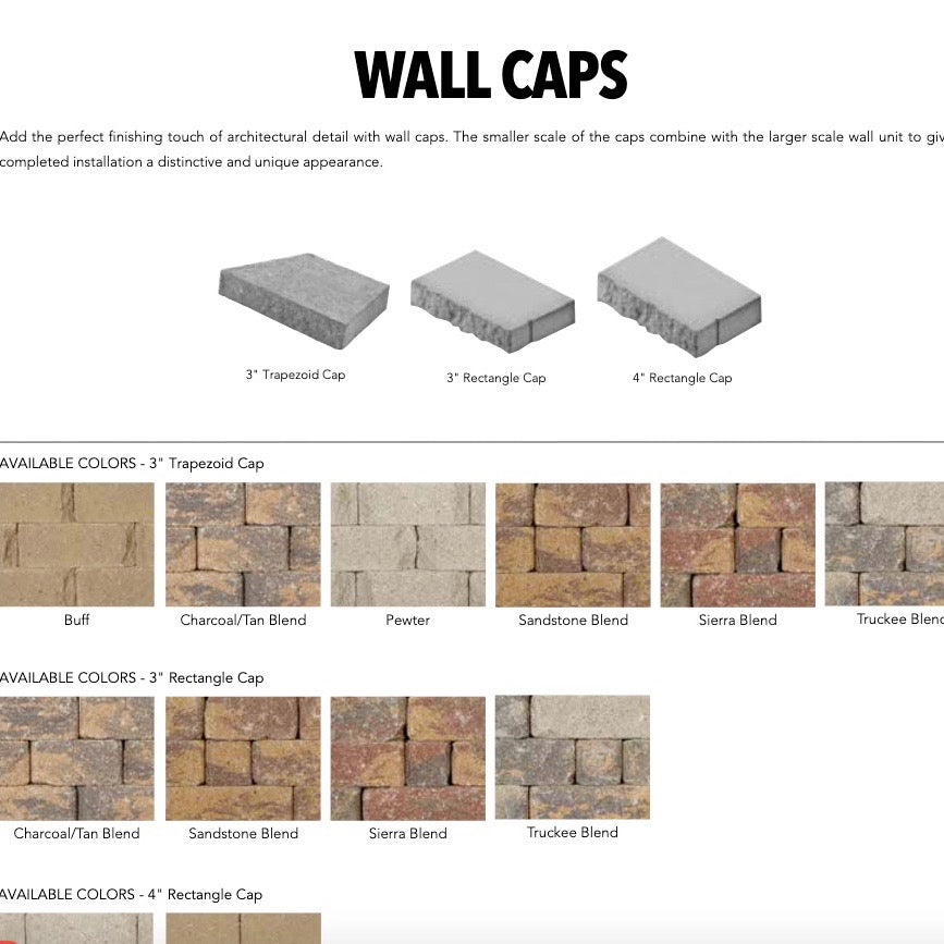 Keystone  Wall Caps-Full Pallets