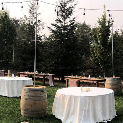 Wine Barrels  With Poles  90471