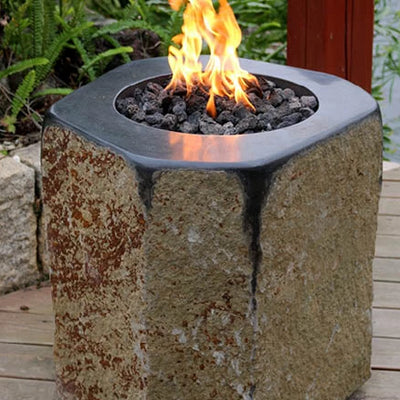 Fire Feature -90265 Round Polished Top Basalt