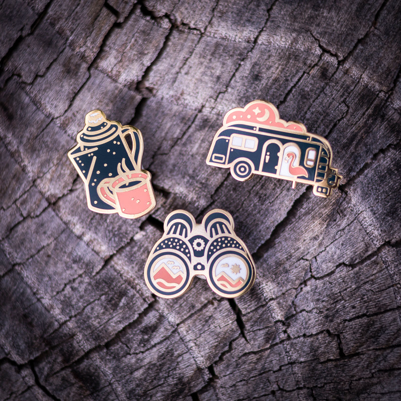 Vintage Night Camper - Outdoor Series - Enamel Lapel Pin