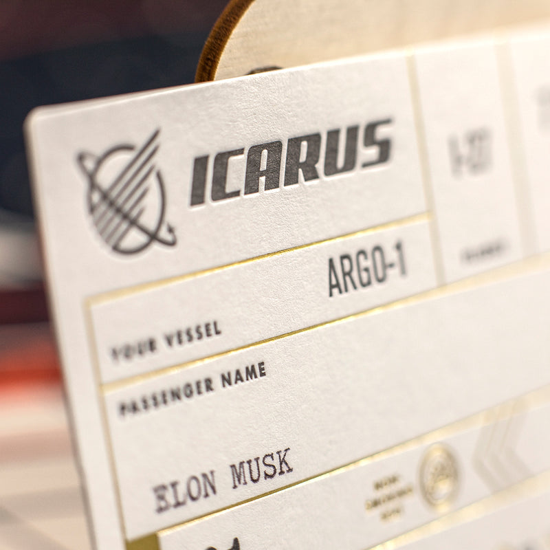 Icarus Mars Ticket & Enamel Pin