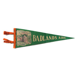 Vintage Badlands North Dakota Pennant