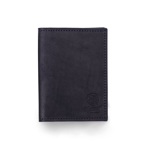 Black Leather Passport Wallet