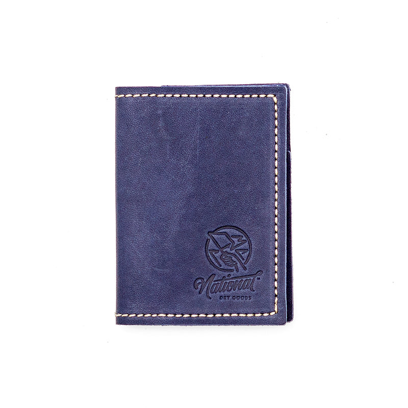 Limited Edition - Blue Leather Folding Wallet