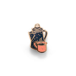 Coffee Camp - Outdoor Pin Series - Enamel Lapel Pin