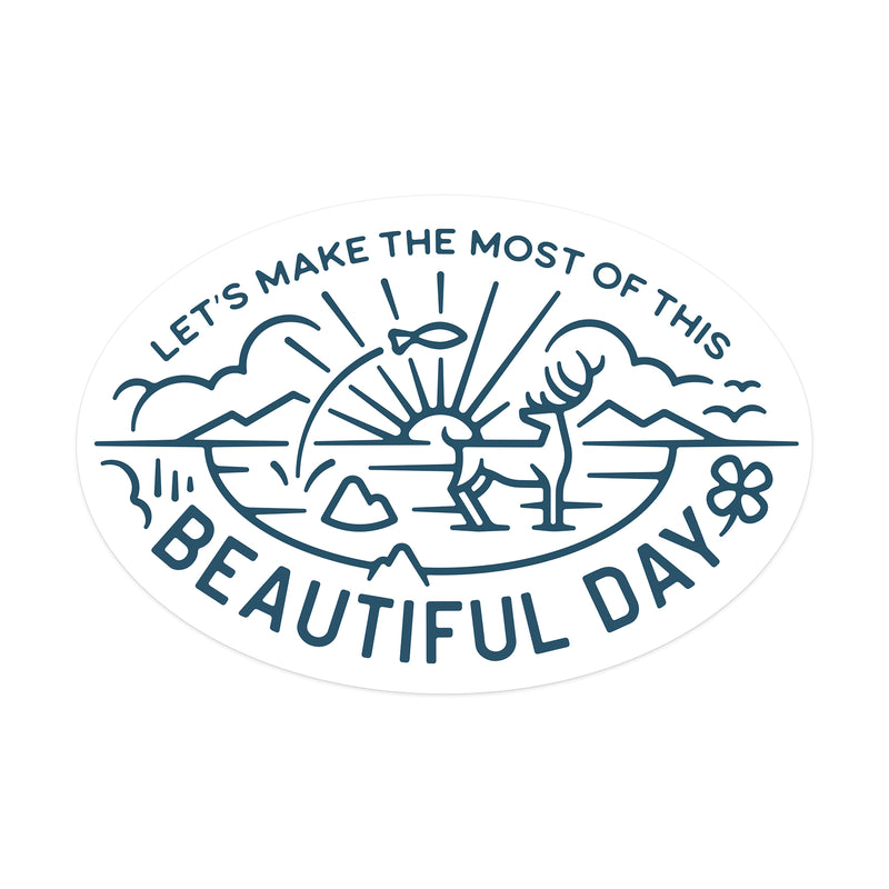 Beautiful Day Sticker